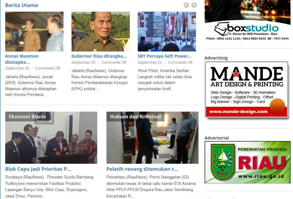 RiauNews Media Online- screenshot
