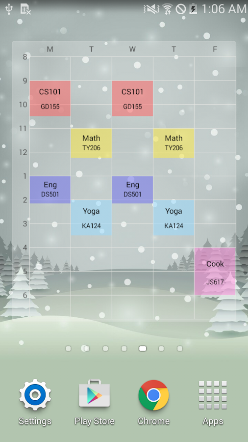 Timetable TimeSpread - screenshot