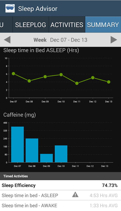 Sleep Advisor- screenshot