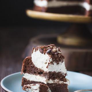 Chocolate Chestnut Cream Cake with Coffee + Rum {gluten-free}