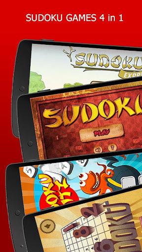Sudoku 4 in one. mini games