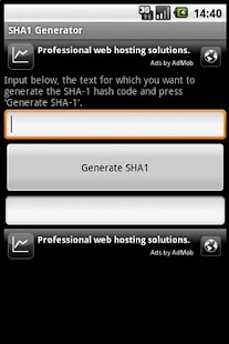 SHA-1 Generator - screenshot thumbnail