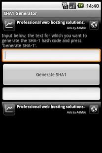SHA-1 Generator - screenshot thumbnail