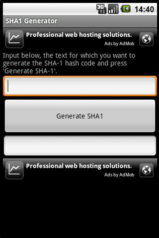 SHA-1 Generator - screenshot