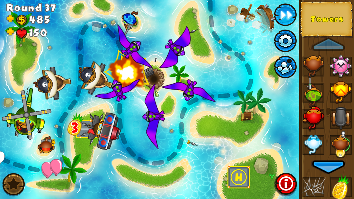 #2. Bloons TD 5 (Android)