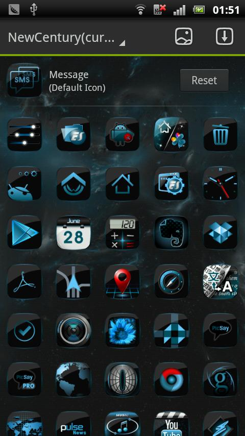 Newcentury GO LauncherEX Theme - screenshot