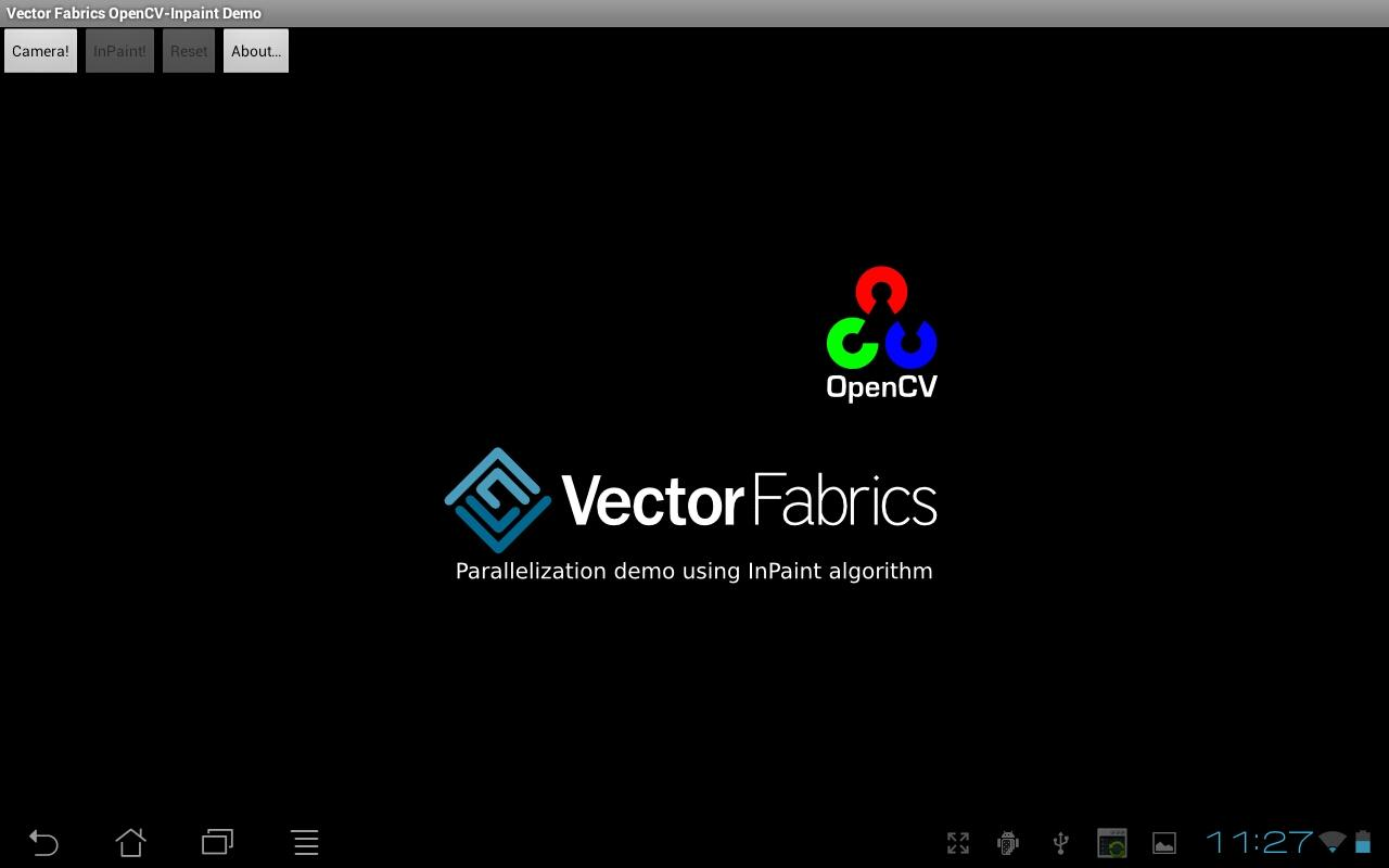 Parallel OpenCV-InPaint Demo - screenshot