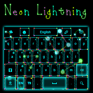 Neon Lightning Keyboard