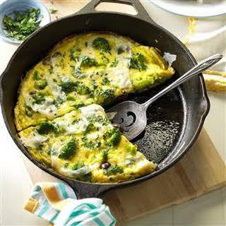 Mediterranean Broccoli & Cheese Omelet.