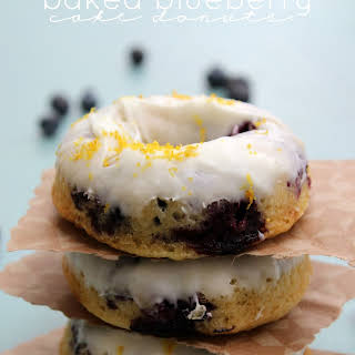 Baked Blueberry Cake Donuts.