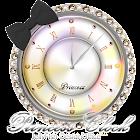 キラキラ☆姫系アナログ時計ウィジェットC icon