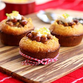 Chili Stuffed Cornbread Muffins