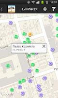 Screenshot of Lviv Places Guide