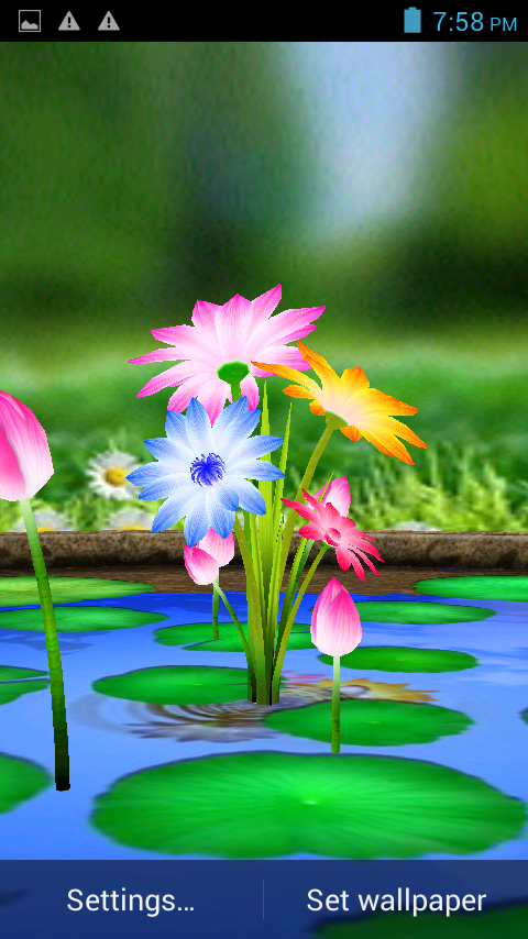 3d Love Live Wallpaper For Mobile : 3D Flowers Touch Wallpaper - Android Apps on Google Play