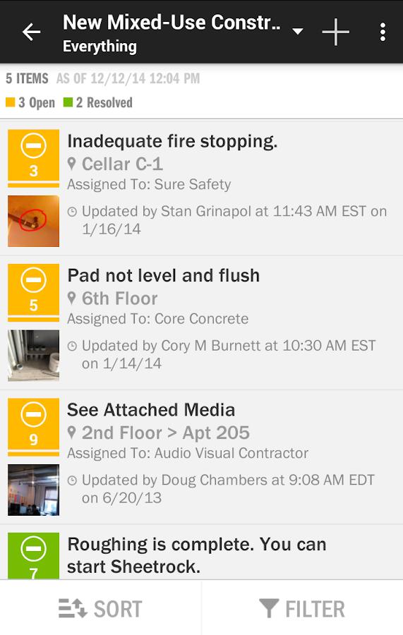 FieldLens Construction App - screenshot