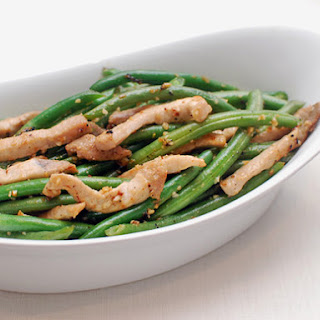 Easy Stir-Fried Pork With String Beans