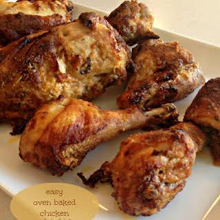 Easy Oven Baked Chicken.