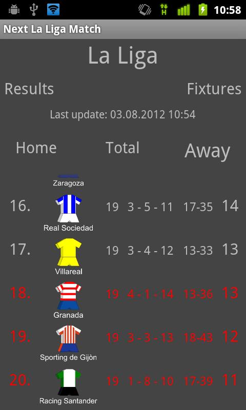 Next la liga match free android apps on google play - La liga latest results and table ...