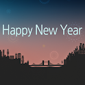 Happy new year Atom theme icon