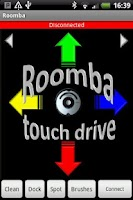 Screenshot of Roomba touch drive