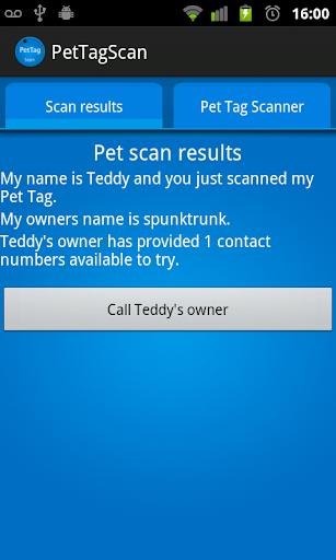 Pet Tag Scanner