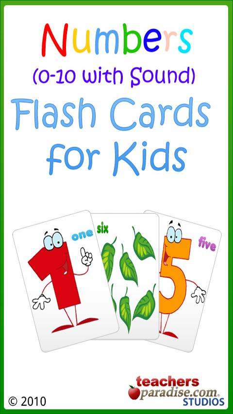 0-10 Numbers Baby Flash Cards - screenshot