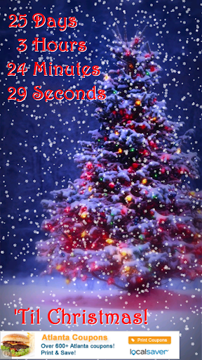 Snowy Christmas Countdown