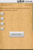 Screenshot of US Constitution (Ad-Free)