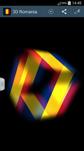 3D Romania Cube Flag LWP