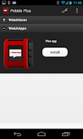 Screenshot of Pebble Plus