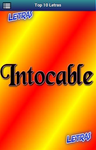 Letras Intocable
