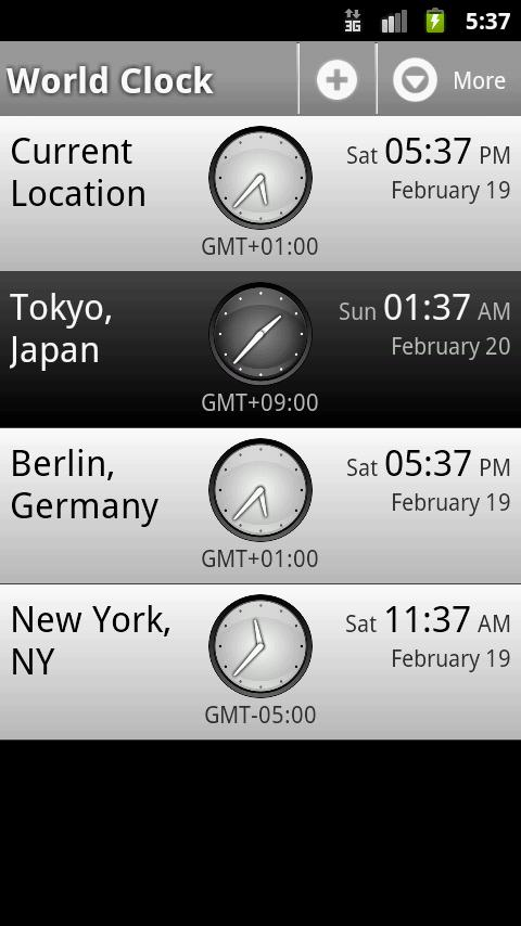 Perfect World Clock - screenshot