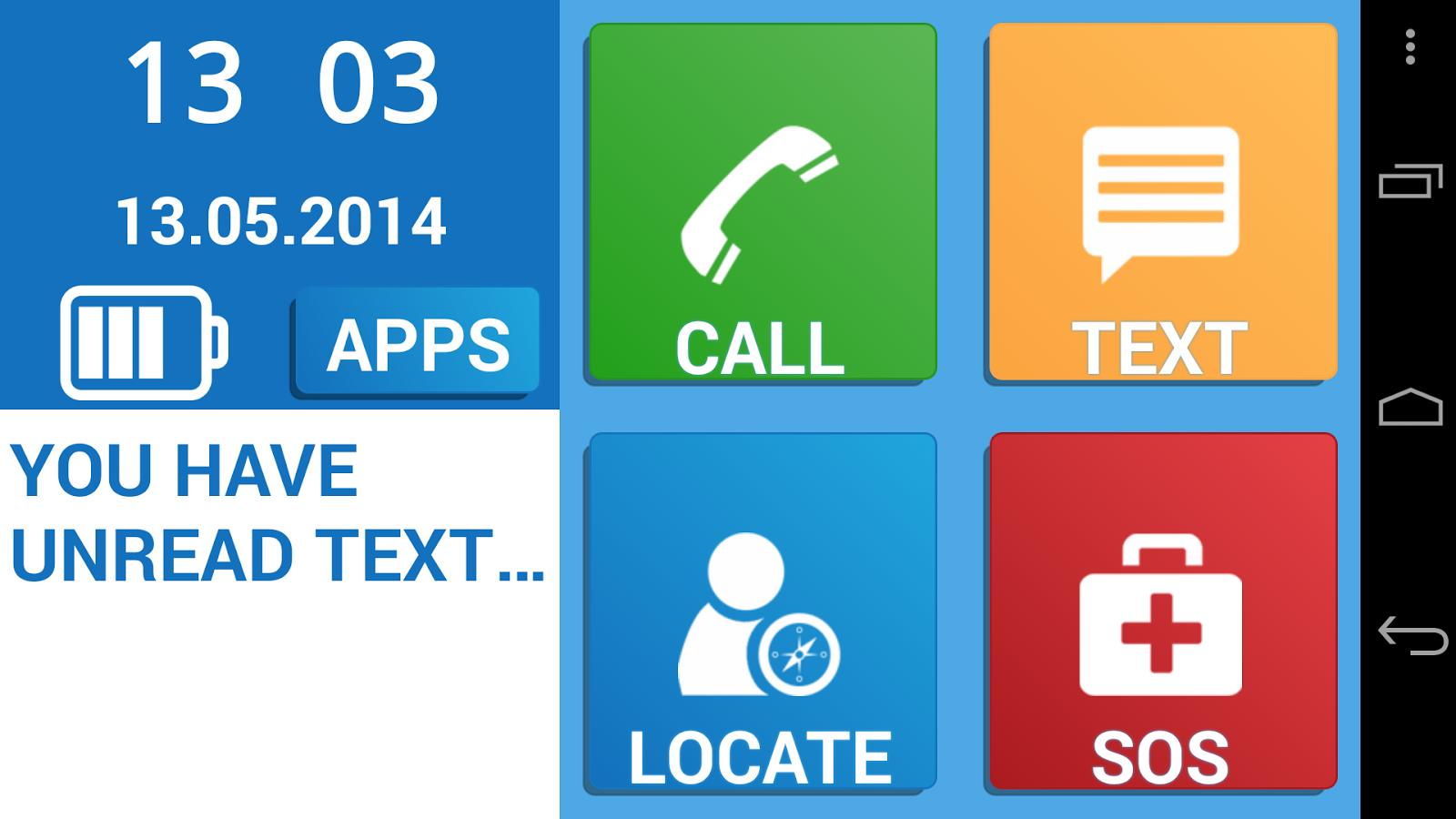 Coloring by numbers for seniors app - Simple Senior Phone Screenshot