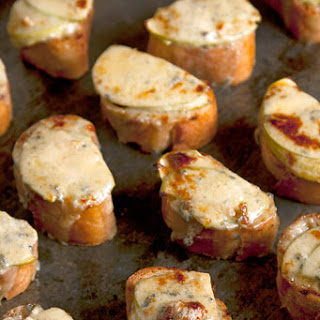 Apple and Stilton Welsh Rarebit Bites Recipe