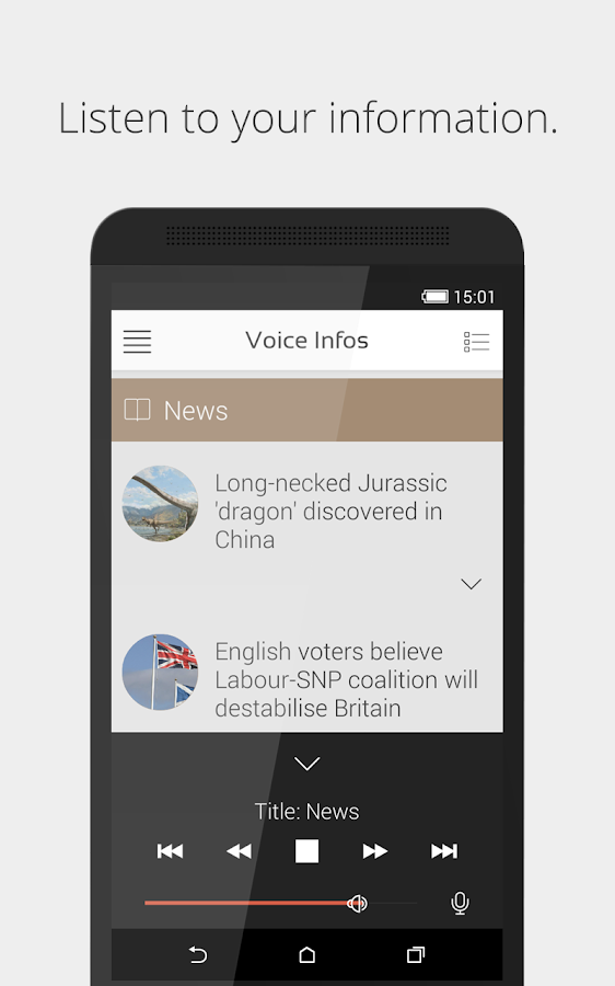 Voice Infos- screenshot