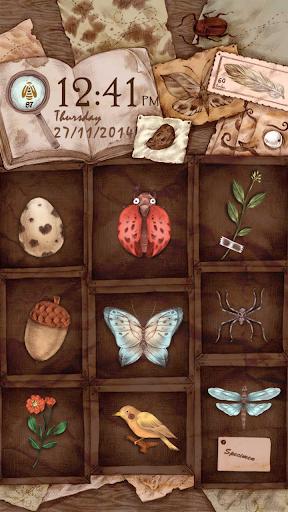 Retro specimens Locker Theme