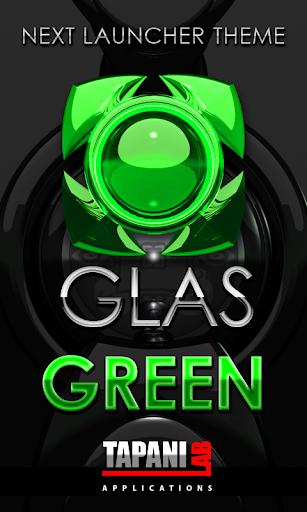 Next Launcher Theme glas green