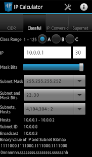 Network IP / Subnet Calculator - screenshot thumbnail