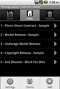 Photographers Contract Maker - screenshot thumbnail