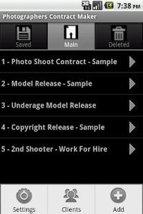Photographers Contract Maker - screenshot thumbnail