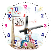 Lovers Theme Clock