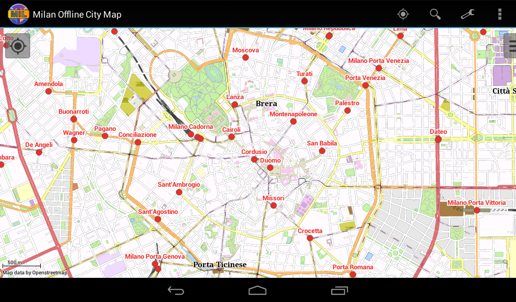 maps update 12001430 milan tourist attractions map 14
