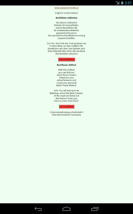 Bachflower Selftest - screenshot