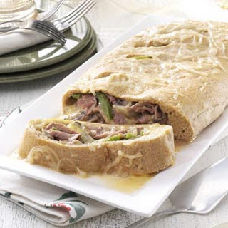 Makeover Philly Steak and Cheese Stromboli.