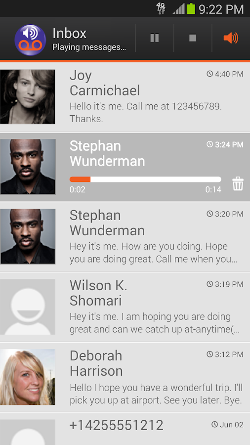 Visual Voicemail by MetroPCS - screenshot