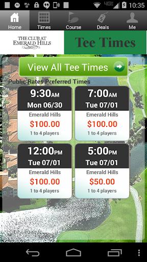 Emerald Hills Golf Tee Times