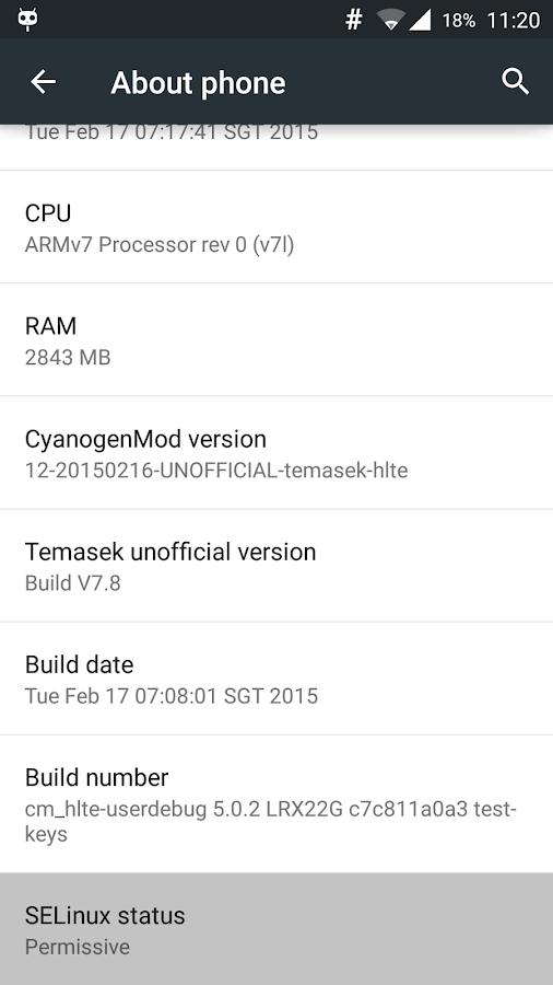 SELinux Mode Changer - screenshot