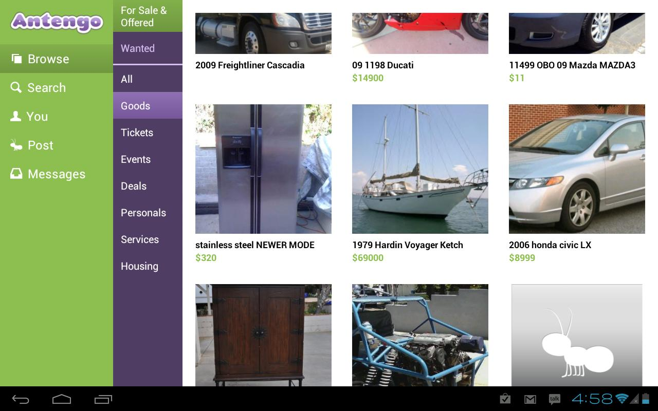 Antengo Classifieds - Tablet - screenshot