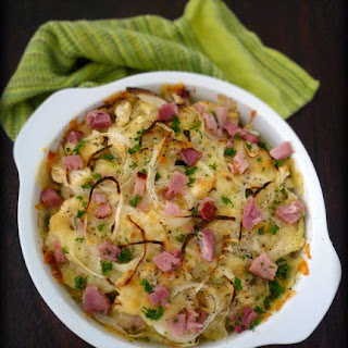Cauliflower Au Gratin with Ham