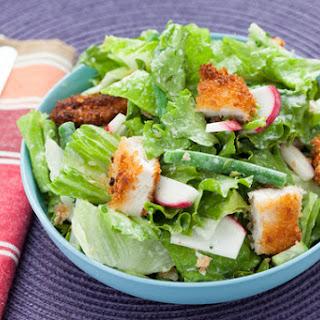 Crispy Chicken Chopped Salad with Creamy Buttermilk Dressing Recipe